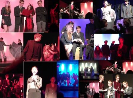 Fotocollage zur Abendaufführung in Hildesheim 20.02.14