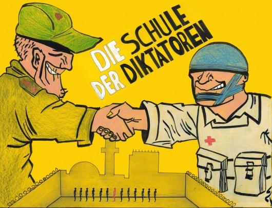 Plakat Schule der Diktatoren 1000